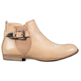 Sixth Sense Eco Leather Boots With A Buckle brown