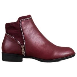 Anesia Paris red Burgundy women's boots