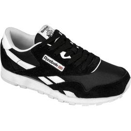 Black Reebok Classic Nylon Jr J21506 shoes