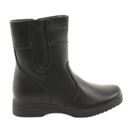 Atletico black Fur ankle boots