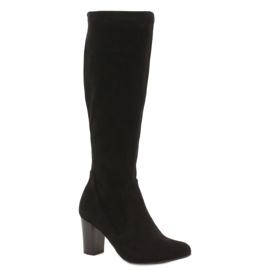 Caprice stretch women's boots black