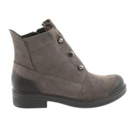 Badura Gray Ankle boots rhinestones grey