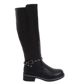 Black boots for women black 0-263 Black