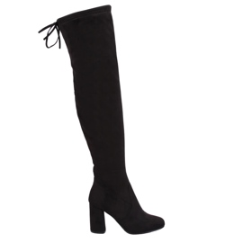 Black Thigh high heels PE239P Black