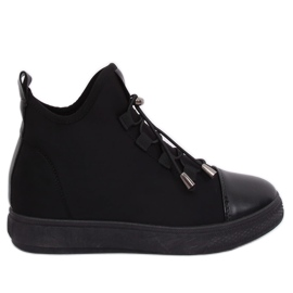 Black insulated neoprene sneakers XY-35 Black