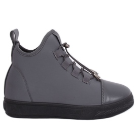 Grey Insulated gray neoprene sneakers XY-35 Gray