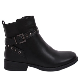 Black Black Jodhpur boots for women black KL-578 Black