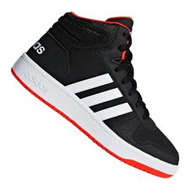Black Adidas Hoops Mid 2.0 K Jr B75743 shoes