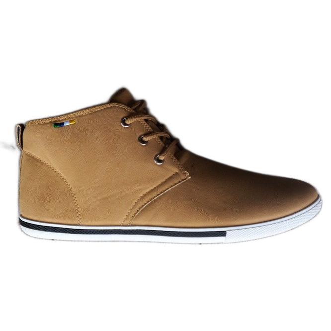 Skate 66511 Beige High Sneakers