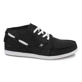 High Leather MID1 Black Sneakers