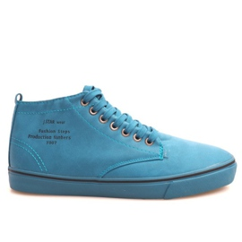 Stylish High Sneakers Y007 Sky Blue