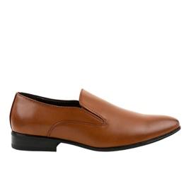 Brown elegant loafers 6-317