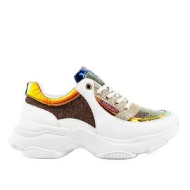 Gemre White women's sports footwear W-3117