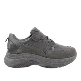 Gemre grey Gray fashionable R267 women's sports shoes