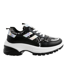 Gemre Black stylish sports shoes 690051