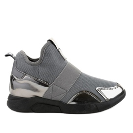 Gemre grey Gray sports footwear with elastic SJ1836-3