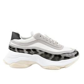 Gemre grey Gray snake sport shoes YY-02