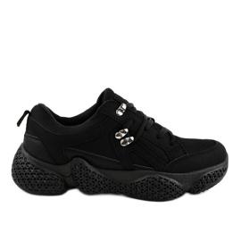 Gemre Black fashionable women's sports shoes BD-5