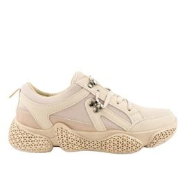 Gemre brown Beige fashionable women's sports shoes BD-5