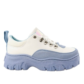 Gemre White and blue PF5329 women's sports shoes