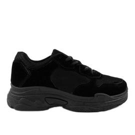 Gemre Black R-372 women's suede sports footwear