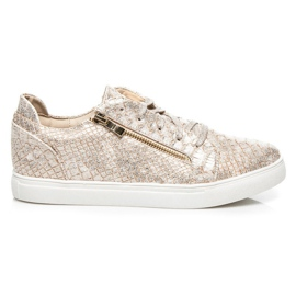 Vices yellow Gold Fashion sneakers