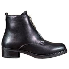 Seastar black Boots With A Decorative Zipper