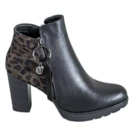 Filippo black Leopard Print women's boots