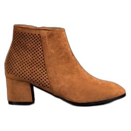 Filippo Suede High Heels brown