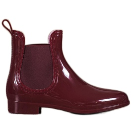SHELOVET Lacquered Wellington boots