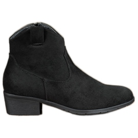 Filippo black Suede Cowboy boots