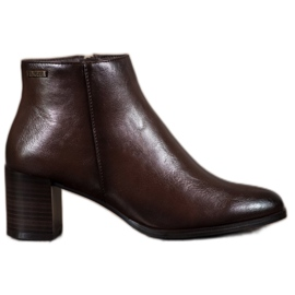 Brown Ankle Boots VINCEZA