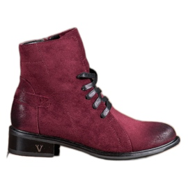Red Suede VINCEZA boots