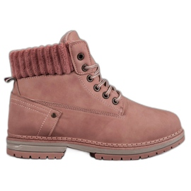 SHELOVET pink Fashionable Traperki