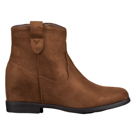 Filippo brown Boots With A Hidden Wedge