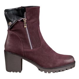 VINCEZA Burgundy Boots red