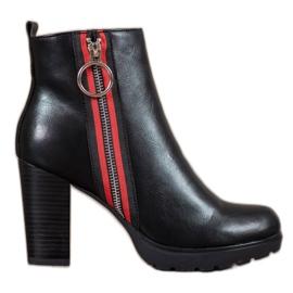Filippo black Boots With A Decorative Slider