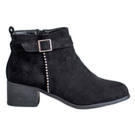 SHELOVET black Suede High Heels