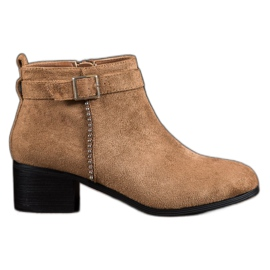 SHELOVET brown Suede High Heels