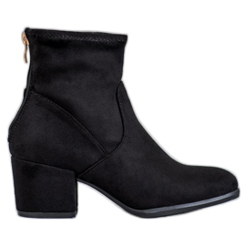 SHELOVET black Stylish Zipper Boots