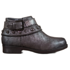 Forever Folie grey Boots With Glitter