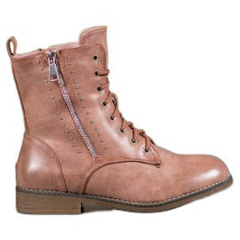 SHELOVET brown Lace-up boots