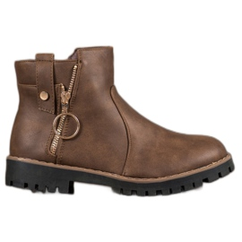 Jumex brown Boots With A Decorative Slider