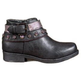 Forever Folie black Boots with jets