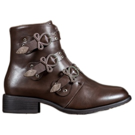 Anesia Paris Brown Boots With Buckles