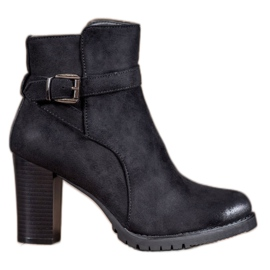S. BARSKI black Stylish Platform Ankle Boots