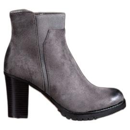 S. BARSKI grey Gray women's boots