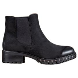 S. BARSKI black Suede Jodhpur boots
