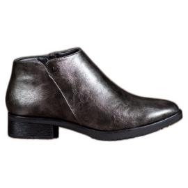 Daszyński Boots On Flat Heel grey