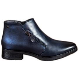 Daszyński Low Navy Blue Boots